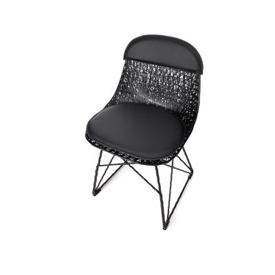 Carbon Dining Chair With cap & pad