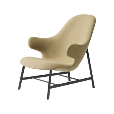Catch JH13 Lounge Chair Warm black powder coated, Camo Leather Silk 0197 Cream