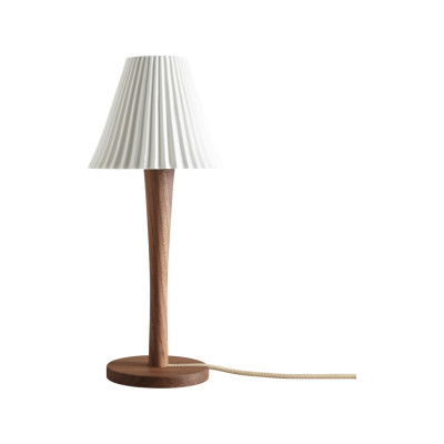 Cecil Table Lamp, Stem Base Walnut Stem