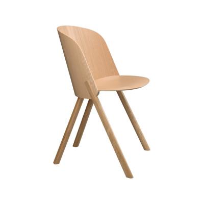 CH05 This Dining Chair Neutral, Clear Lacquered Oak Veneer