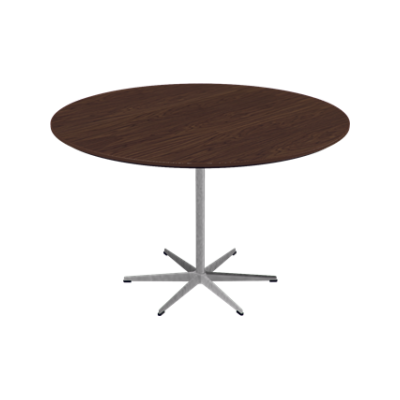 Circular Dining Table - 6-star base Laminate Special Colour Grey Efeso