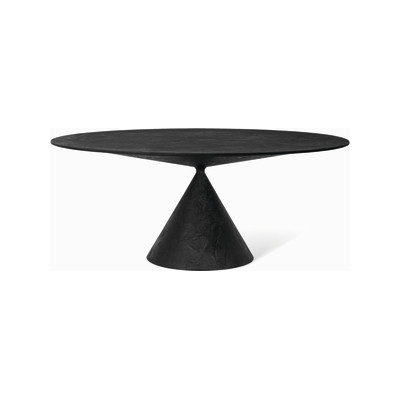 Clay Table - Round 180cm, D67 Lava Stone, Yes