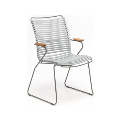 Click Dining Chair Tall Back Grey