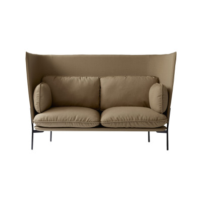 Cloud LN6 Two-Seater Sofa Powder coated warm black, Remix 2 113