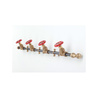 Coat Rack Single Black with Red Hooks