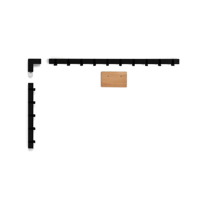 Coatrack by the Meter set 'around the corner' in black