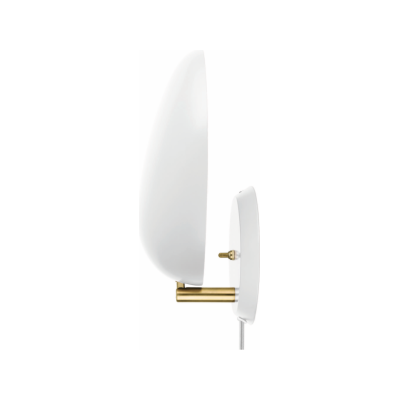 Cobra Wired Wall Light Gubi Metal Matt White