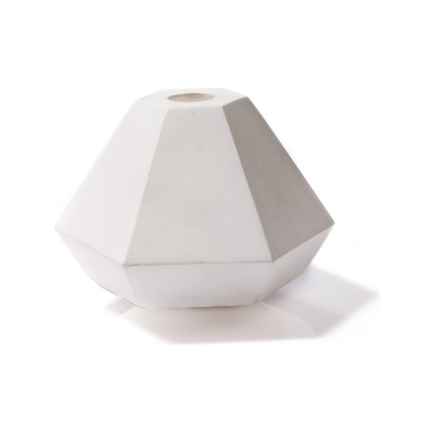 Concrete Candle Holder White, Short