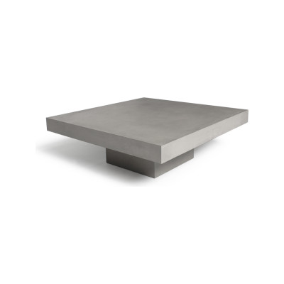 Concrete Coffee Table Glass Top Version