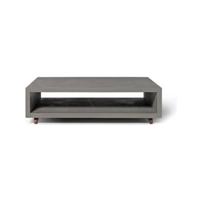 Concrete Monobloc Coffee table with Wheels