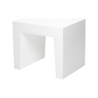 Concrete Seat White