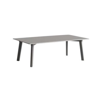 Copenhague Deux (CPH 250) Rectangular Low Table Stone Grey Laminate Top, Stone Grey Beech Base