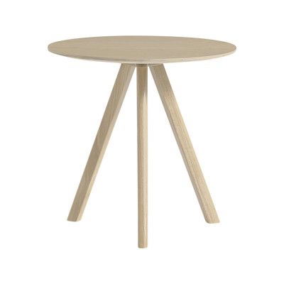 Copenhague Veneer Top Round Coffee Table CPH20 Matt Lacquered Oak