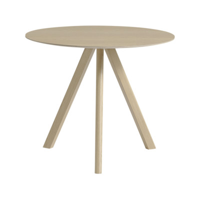 Copenhague Veneer Top Round Dining Table CPH20 Matt Lacquered Oak, Small