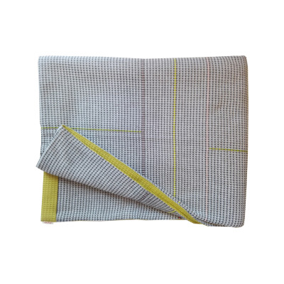 CROMER hand embroidered charcoal olive reverse throw