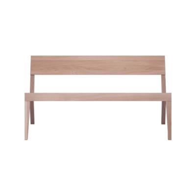 Cubo Bench With Wood Seat Oak, Oak