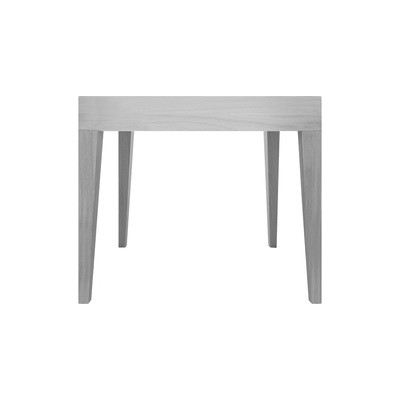 Cubo Square Table Without Drawer Oak, Light Grey