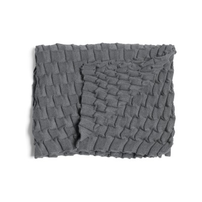 Curly Throw - set of 2 Grey