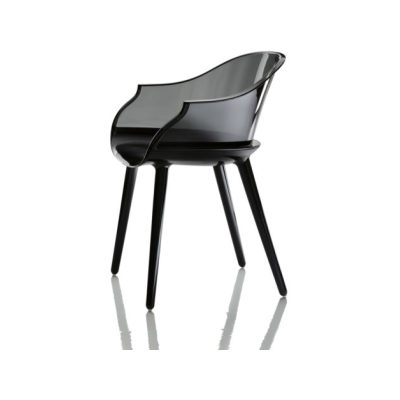Cyborg Armchair White Seat, Clear Back