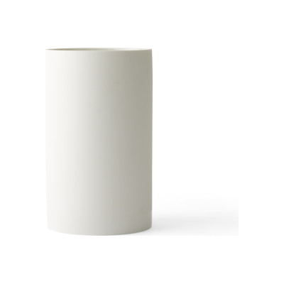 Cylindrical Vase - Set of 4 White, L