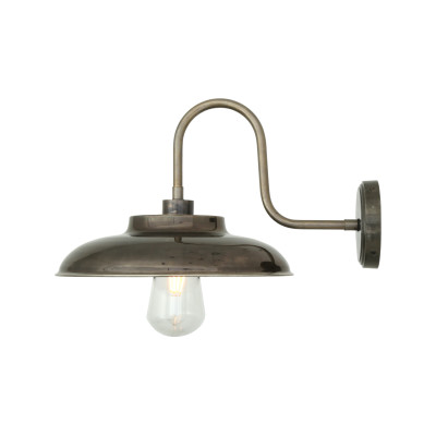 Darya Swan Neck Wall Light Antique Brass