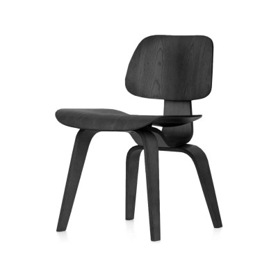 DCW Chair 03 Plywood Black ash, 05Felt glides for hard floor