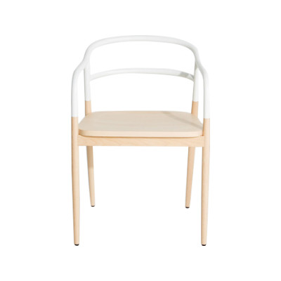 Dojo Bridge Armchair White, RAL 9016