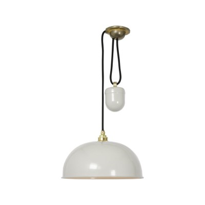 Dome Rise & Fall Pendant Light 7300 Putty Grey