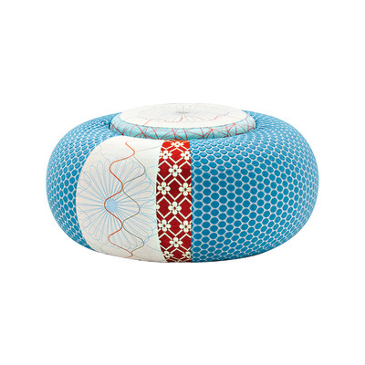 Donut Round Stool Sushi Collection 94, A4200 - Geo 01 CS Diamond/Flower Red, Fabric Pattern Donut A, A4211 - Geo CS Pattern Green/Red, A4248