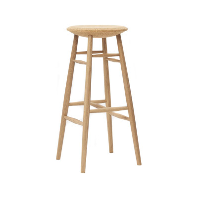 Drifted Bar Stool Light Cork, Natural Oak