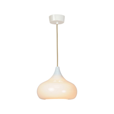 Drop Two Pendant Light Natural White Gloss
