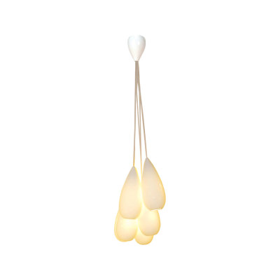 Drop Zero Pendant Light - Set of 6 Natural White Gloss