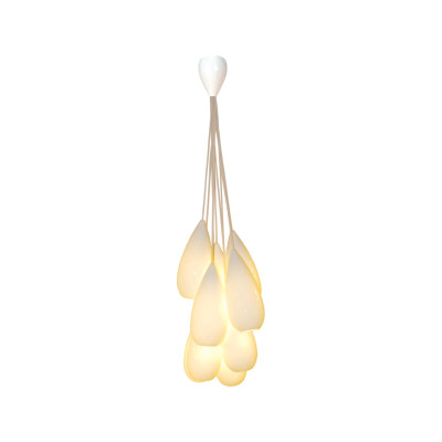 Drop Zero Pendant Light - Set of 9 Natural White Gloss