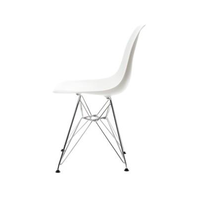 DSR Side Chair 01 Chrome ,01 White ,05 Felt glides basic dark for hard floor