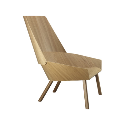 EC03 Eugene Lounge Chair Silk Grey, Coloured Oak Veneer