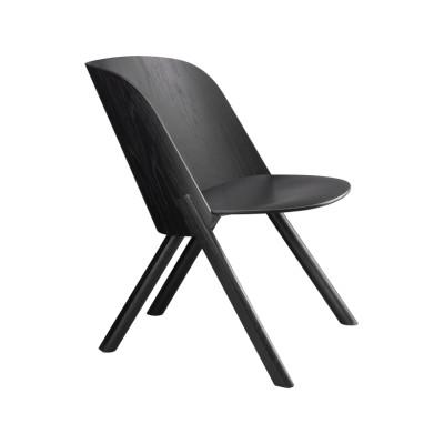EC05 That Lounge Chair Silk Grey, Coloured Oak Veneer