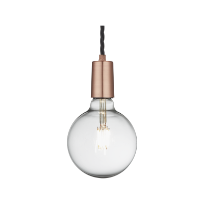 Edison Single Wire Pendant Light Sleek Edison Pendant - 1 Wire - Copper
