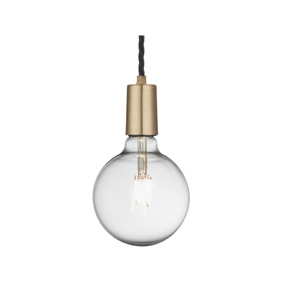 Edison Single Wire Pendant Light Sleek Edison Pendant - 1 Wire - Brass