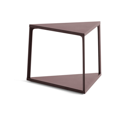 Eiffel Triangle Side Table Ink Black