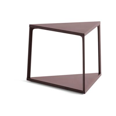 Eiffel Triangle Side Table Dark Brick
