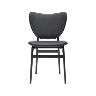 Elephant Dining Chair Oak Black, Wool Coal Grey