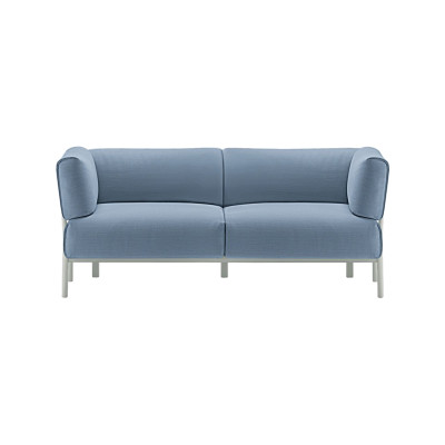 Eleven 861 2 Seater Sofa Leather Pelle Frau Color System - B004, Polished Aluminium - AB