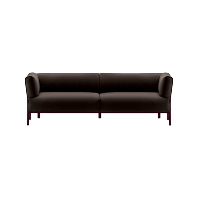 Eleven 862 3 Seater Sofa Leather Pelle Frau Color System - B004, Polished Aluminium - AB