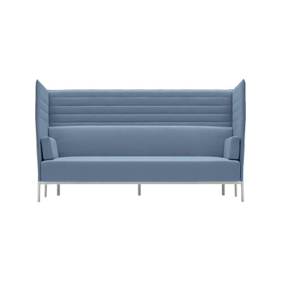 Eleven High Back 864 3 Seater Sofa Kvadrat Steelcut Trio - ST24, Polished Aluminium - AB
