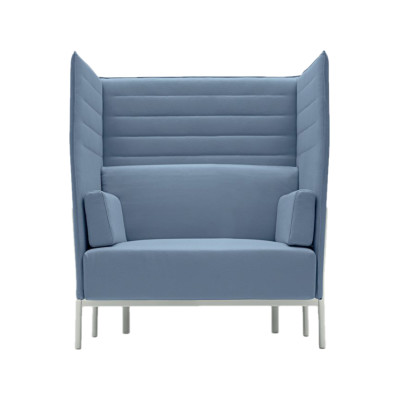 Eleven High Back  865 Sofa Kvadrat Steelcut Trio - ST24, Polished Aluminium - AB