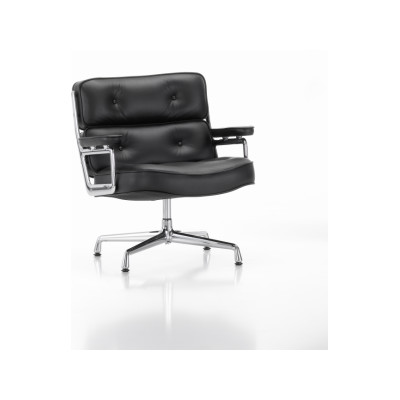 ES 105 Lobby Chair - Swivel, With Armrests 05 felt glides for hard floor, Leather Premium 72 snow