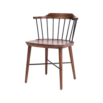 Exchange Dining Chair Wood Soap Finished Walnut