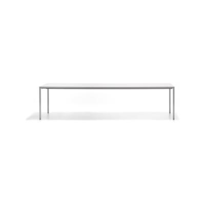 Extension Dining Table, 1 Extension Top Black Top & Matt Graphite Grey Frame, 100x200cm