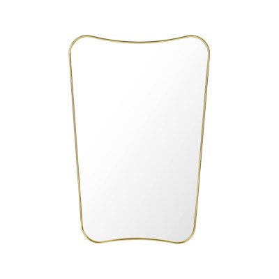 F.A. 33 Rectangular Wall Mirror Polished Brass, Small