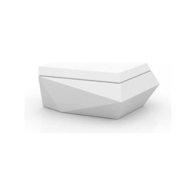 Faz Ottoman Chaiselounge White
